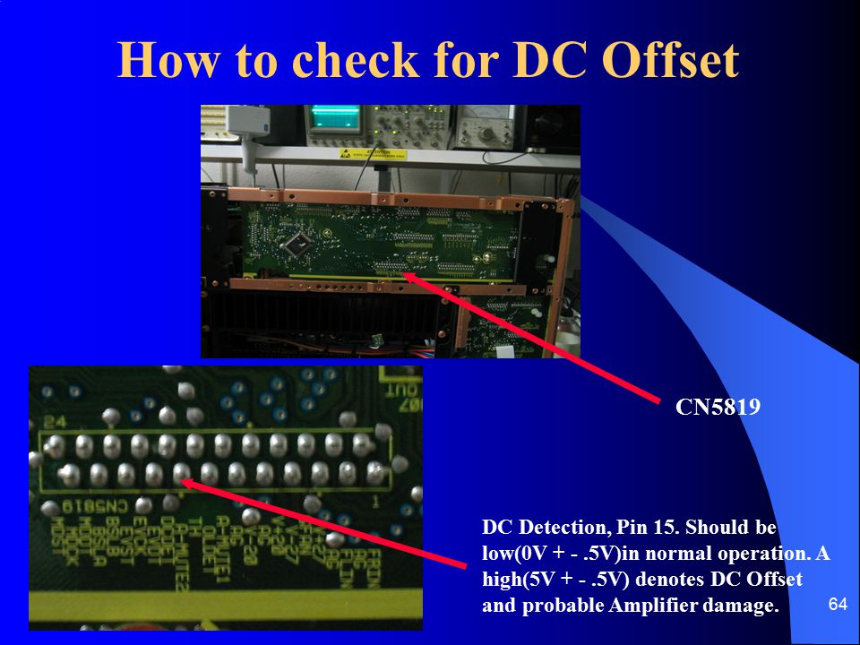 How to check for DC Offset