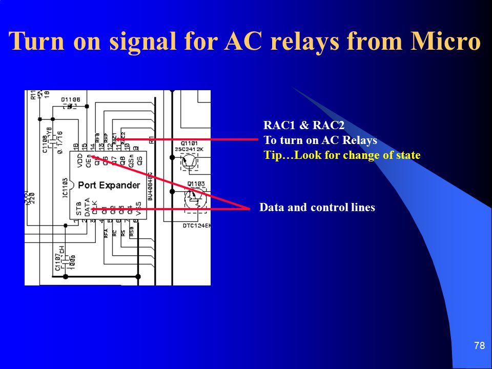 Turn on signal for AC relays from Micro