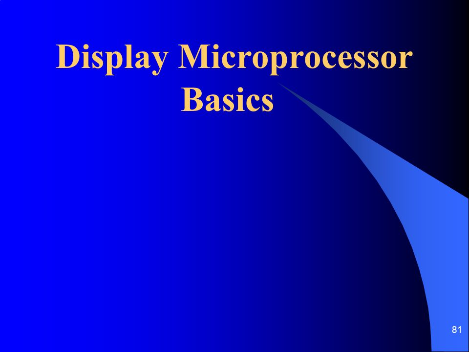 Display Microprocessor