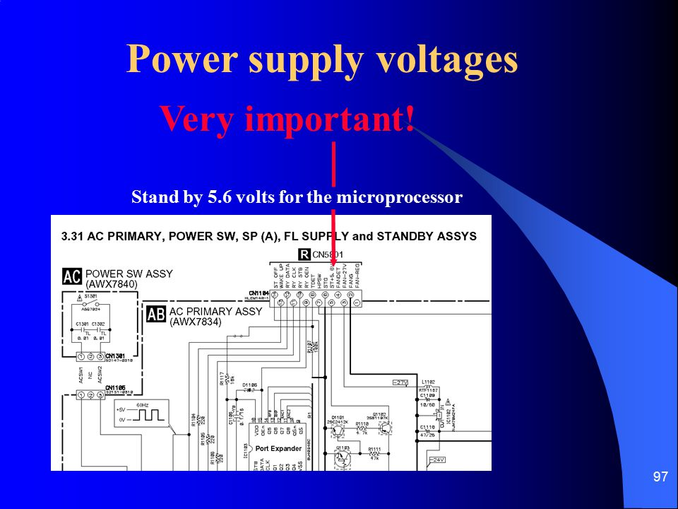 Power supply voltages Very important!
