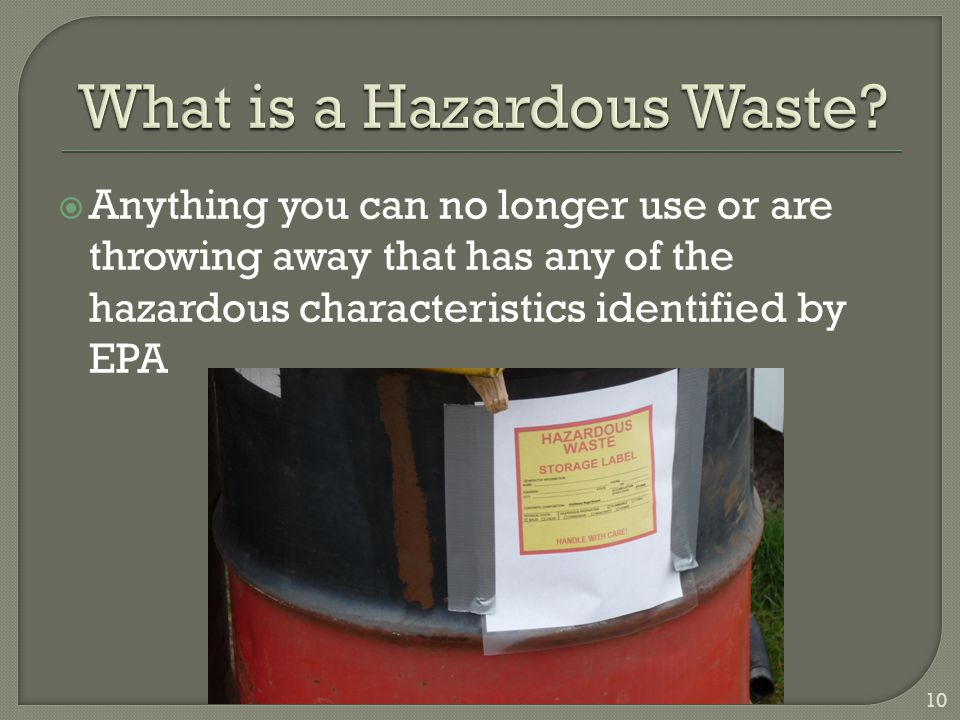 What is a Hazardous Waste