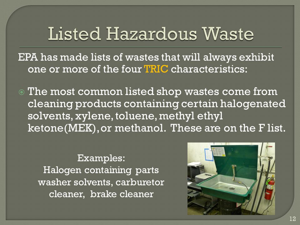 Listed Hazardous Waste