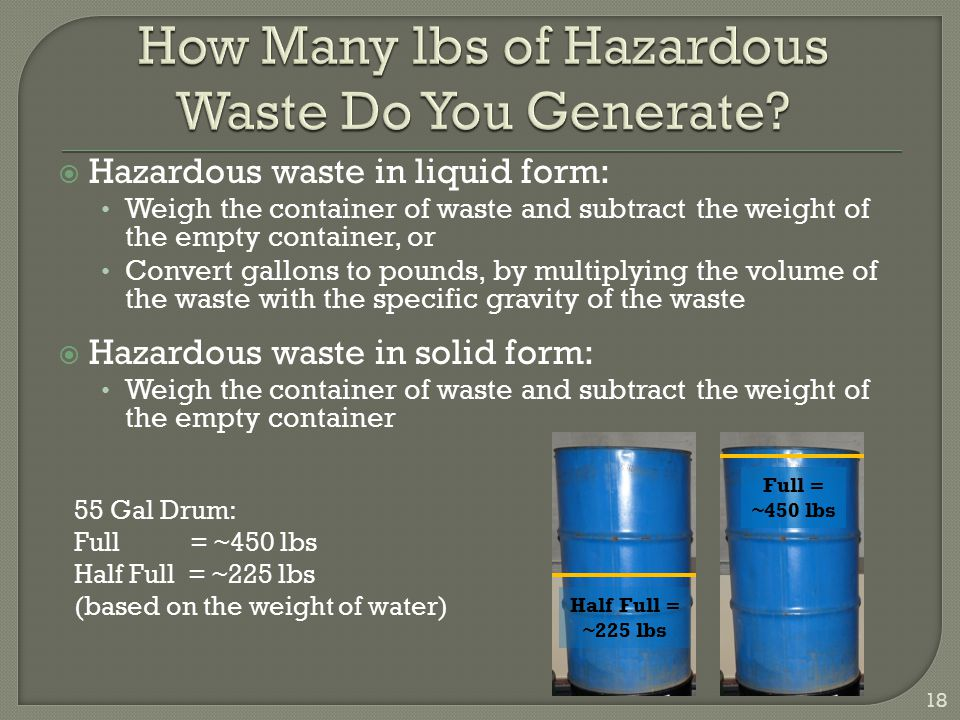How Many lbs of Hazardous Waste Do You Generate