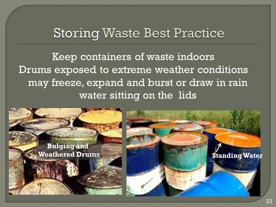 Storing Waste Best Practice