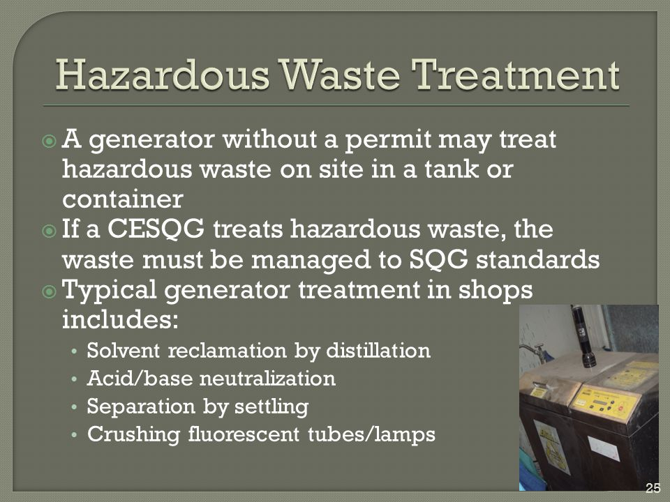 Hazardous Waste Treatment