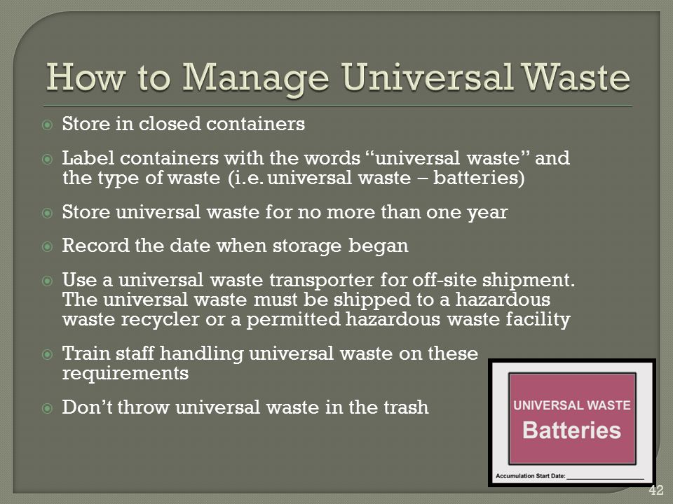 How to Manage Universal Waste