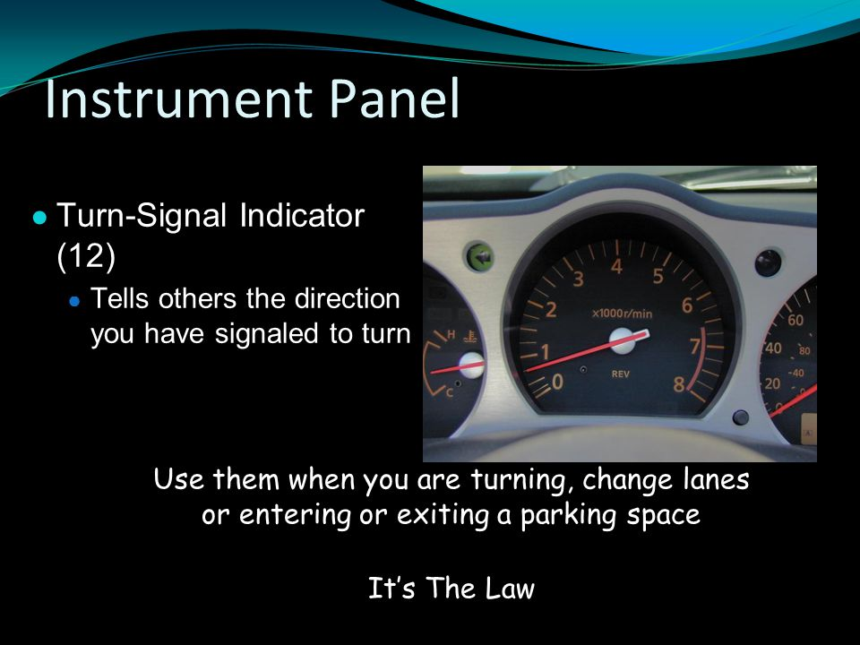 Instrument Panel Turn-Signal Indicator (12)