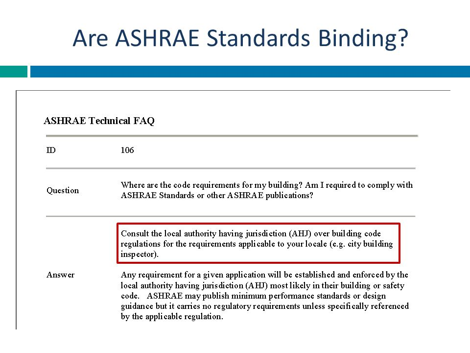 Are ASHRAE Standards Binding