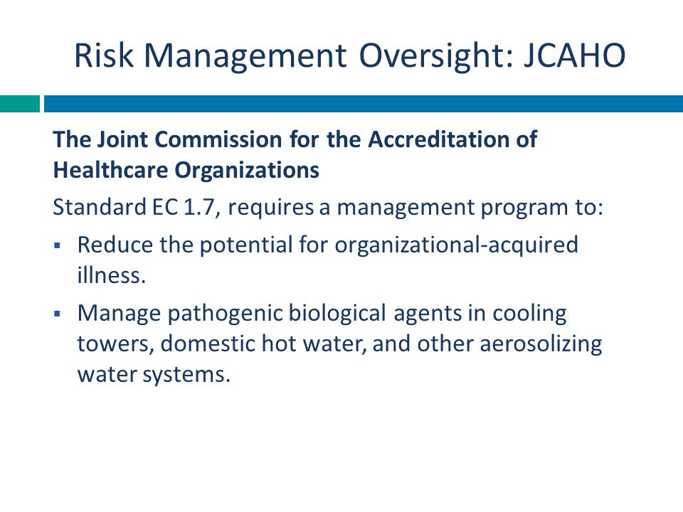 Risk Management Oversight: JCAHO