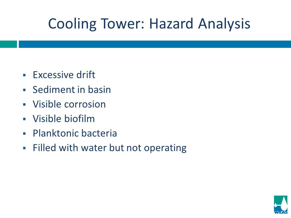 Cooling Tower: Hazard Analysis