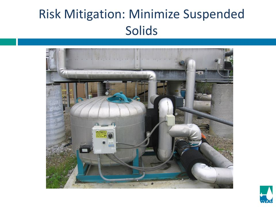 Risk Mitigation: Minimize Suspended Solids