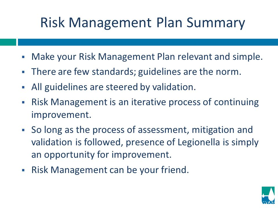 Risk Management Plan Summary