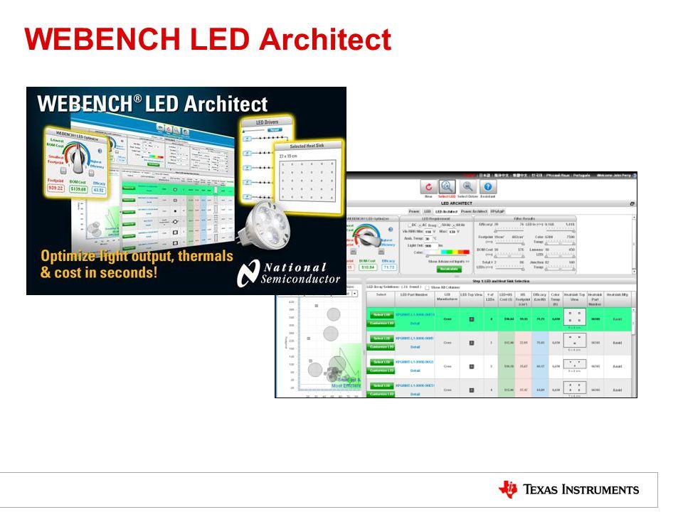 WEBENCH LED Architect