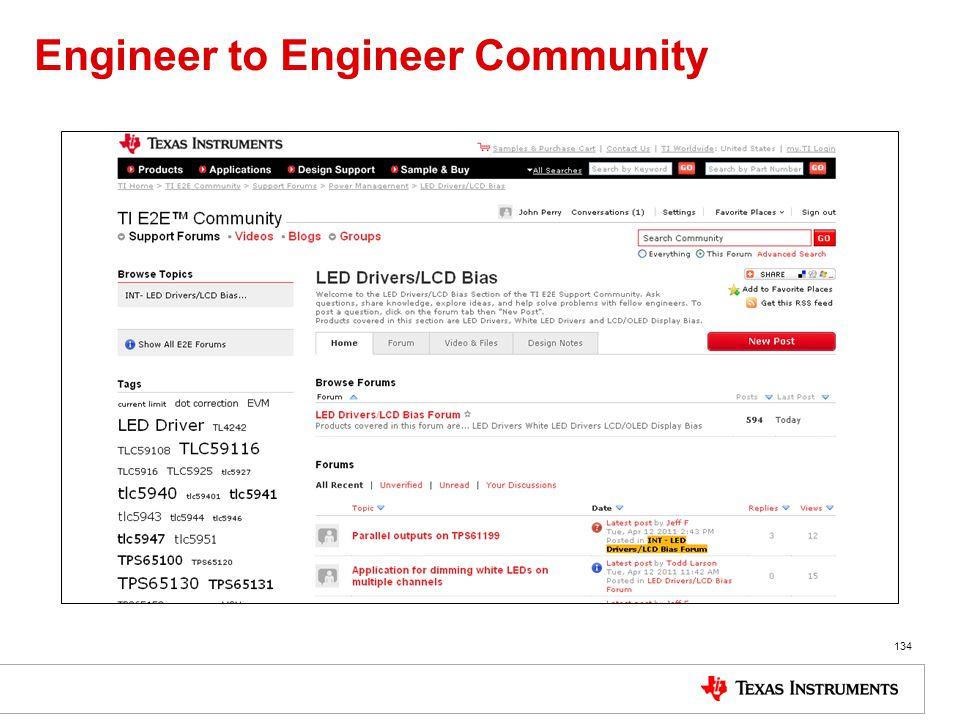 Engineer to Engineer Community