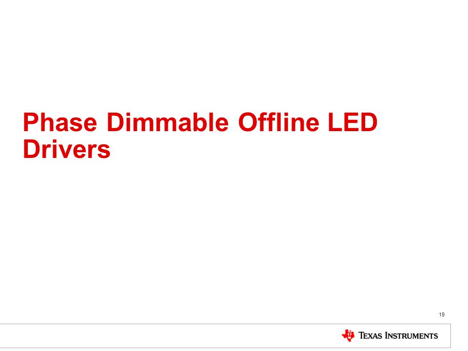 Phase Dimmable Offline LED Drivers