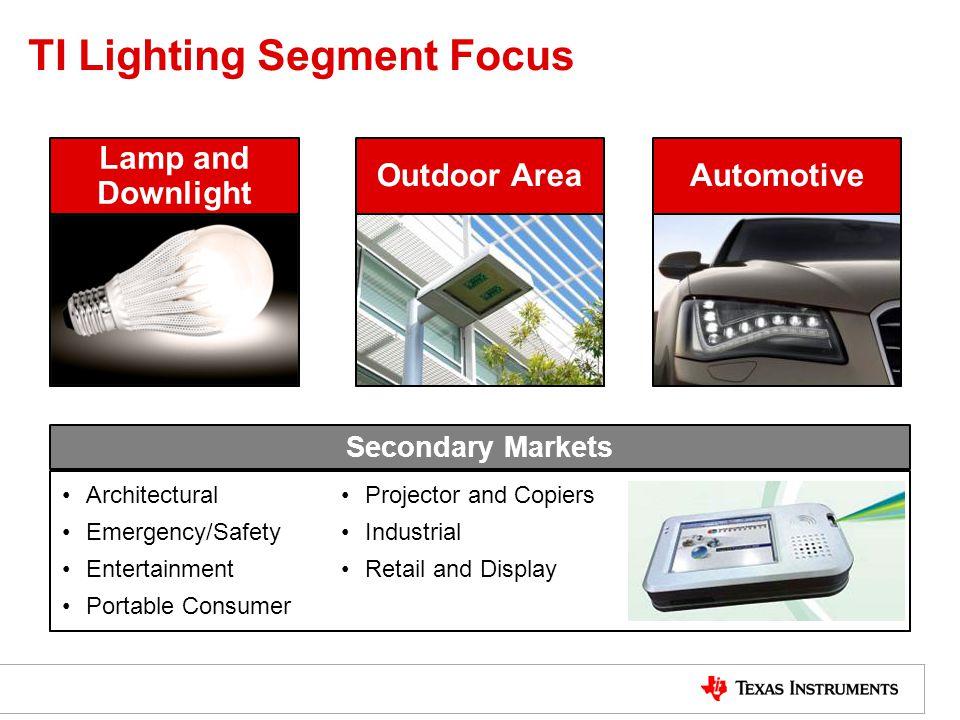 TI Lighting Segment Focus