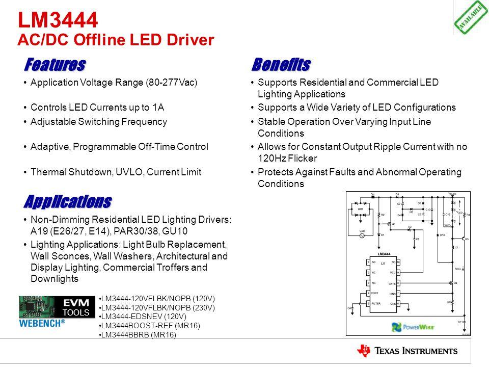LM3444 AC/DC Offline LED Driver