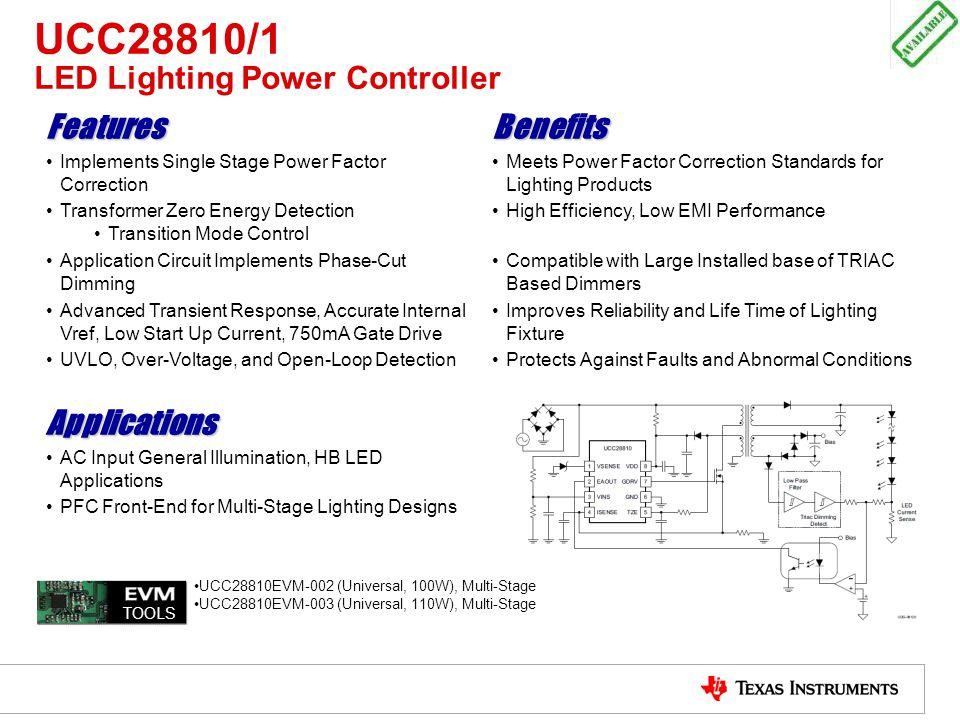 UCC28810/1 LED Lighting Power Controller