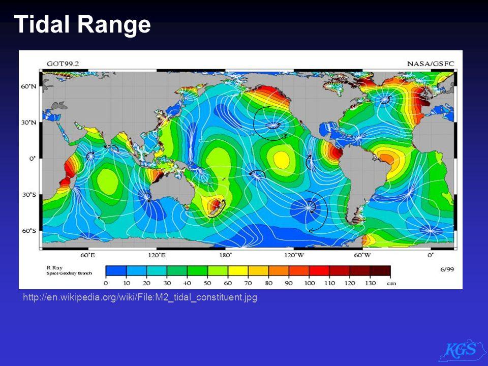 Tidal Range Tidal range also varies