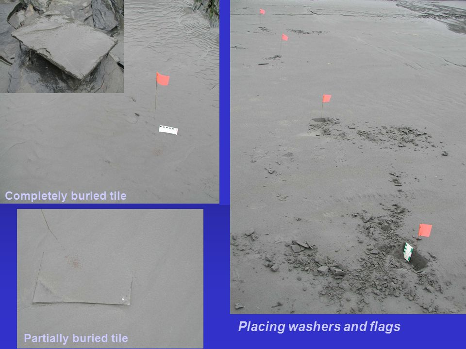 Placing washers and flags