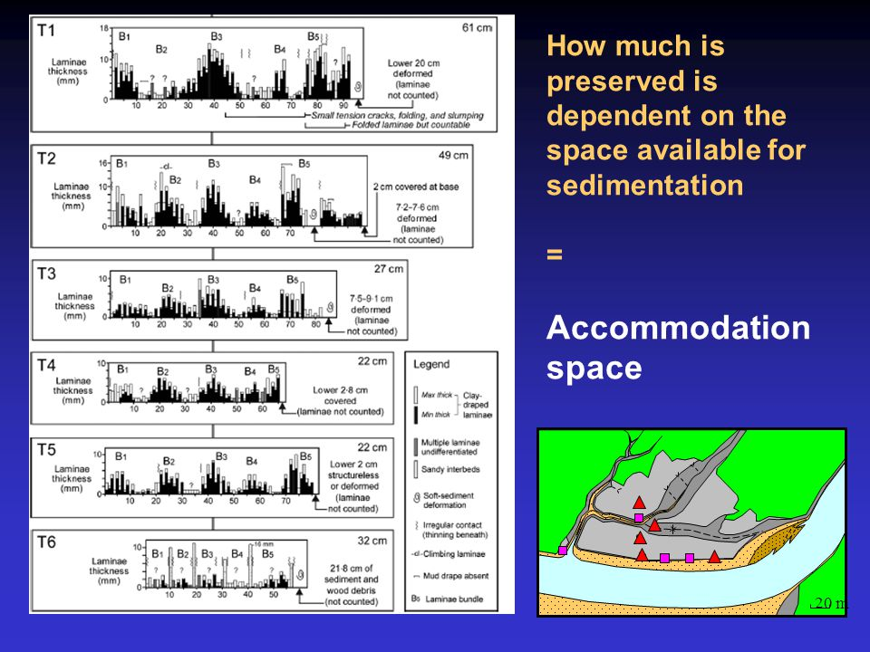 How much is preserved is dependent on the space available for sedimentation