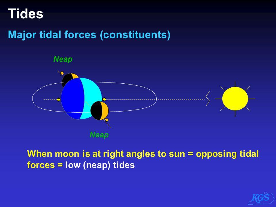 Tides Major tidal forces (constituents)