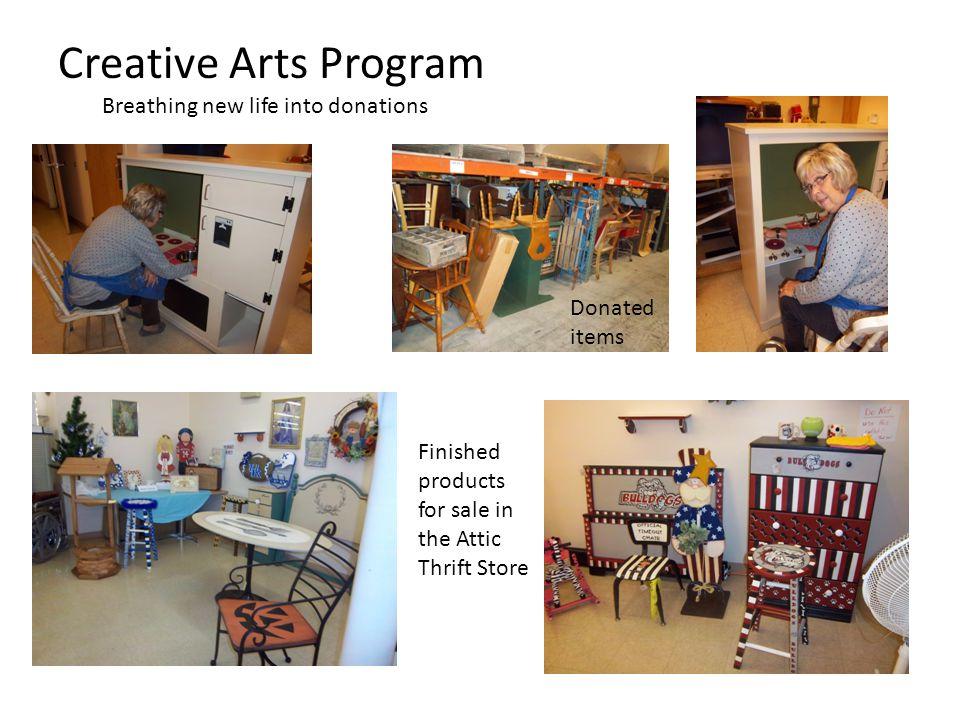 Creative Arts Program Breathing new life into donations
