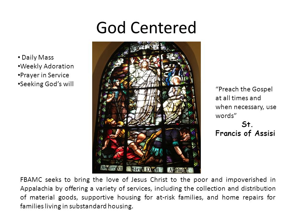 God Centered Daily Mass Weekly Adoration Prayer in Service