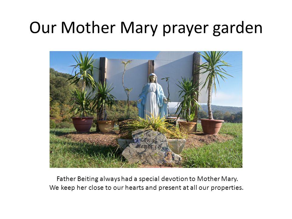 Our Mother Mary prayer garden