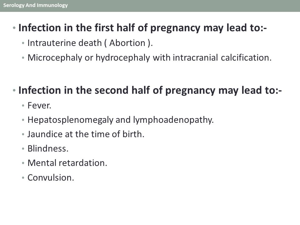 Infection in the first half of pregnancy may lead to:-