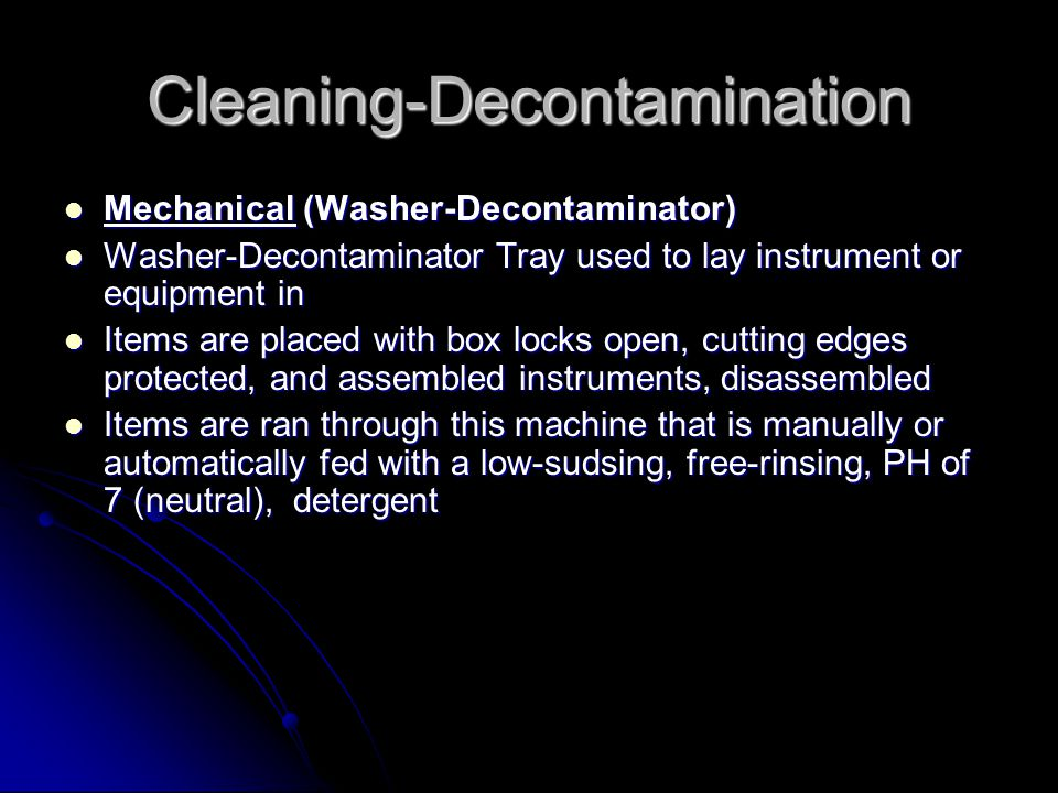 Cleaning-Decontamination
