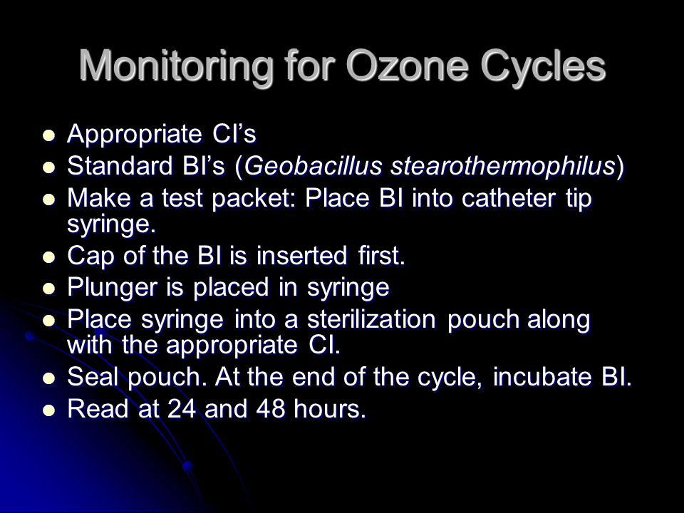 Monitoring for Ozone Cycles