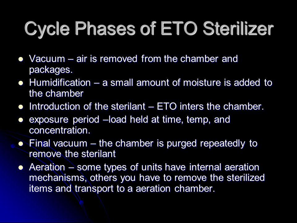Cycle Phases of ETO Sterilizer