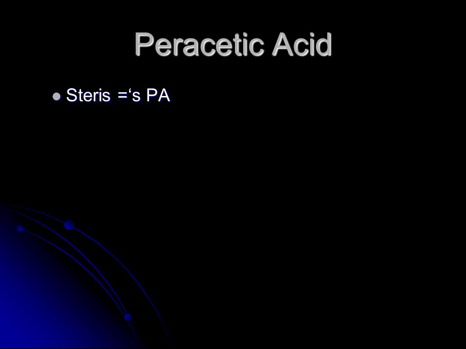 Peracetic Acid Steris ='s PA