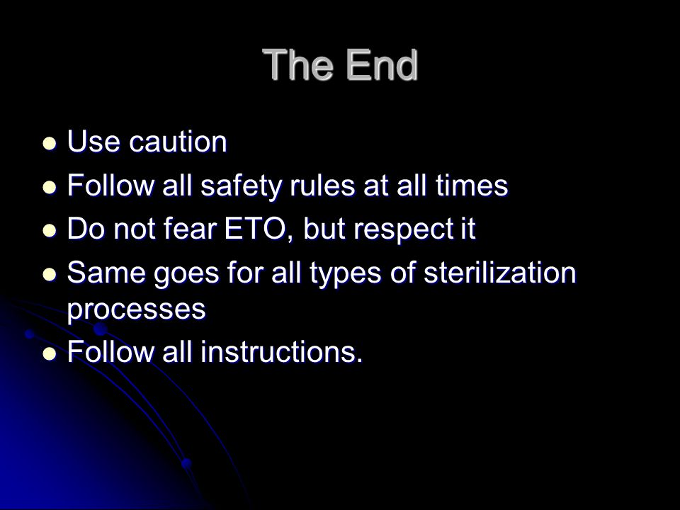 The End Use caution Follow all safety rules at all times
