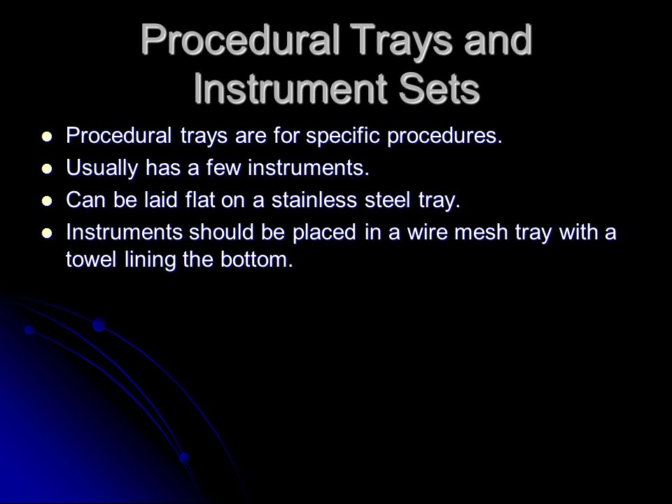 Procedural Trays and Instrument Sets