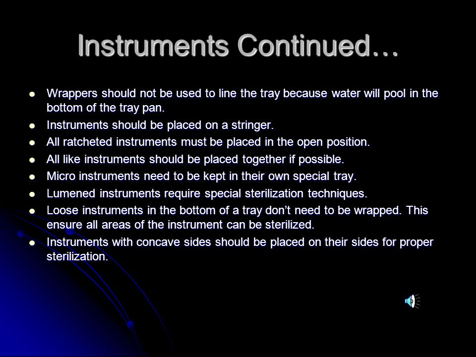 Instruments Continued…