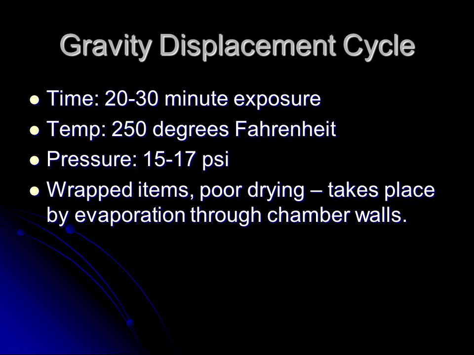 Gravity Displacement Cycle