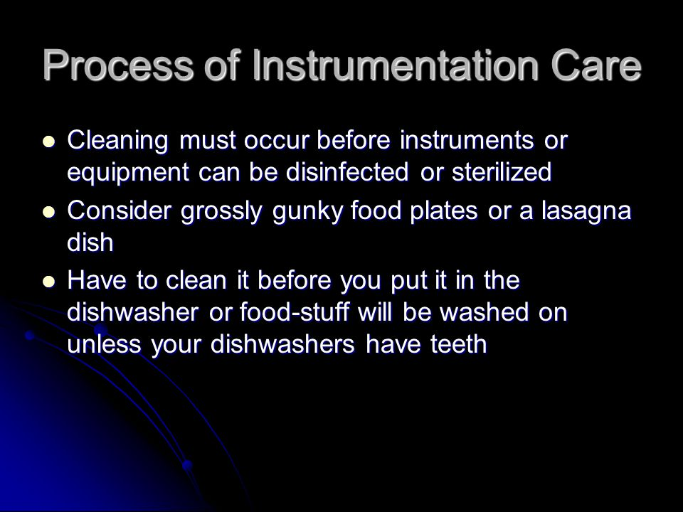 Process of Instrumentation Care