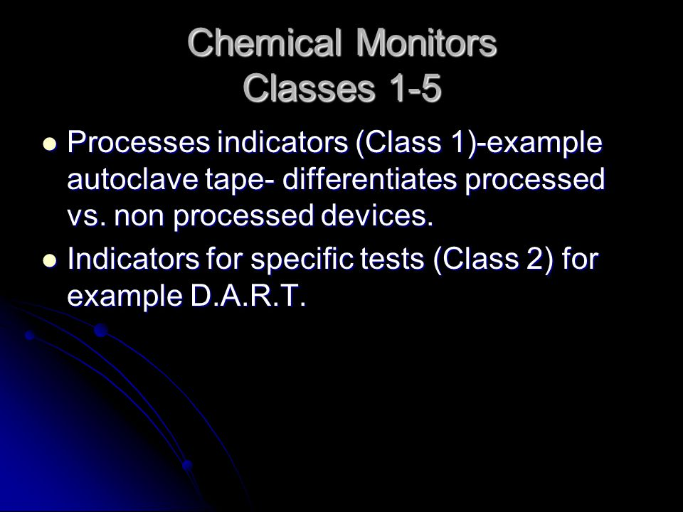 Chemical Monitors Classes 1-5