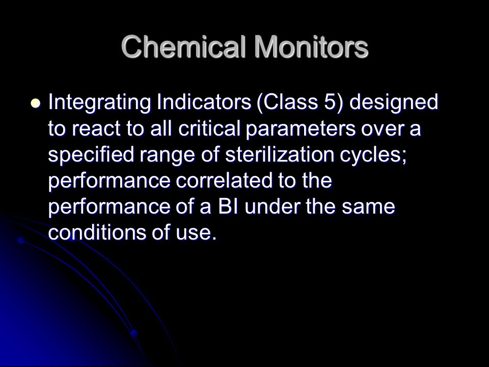 Chemical Monitors