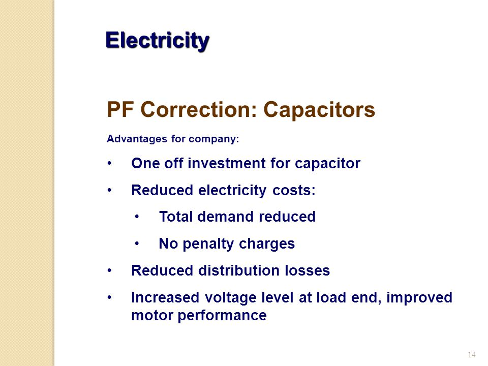 PF Correction: Capacitors