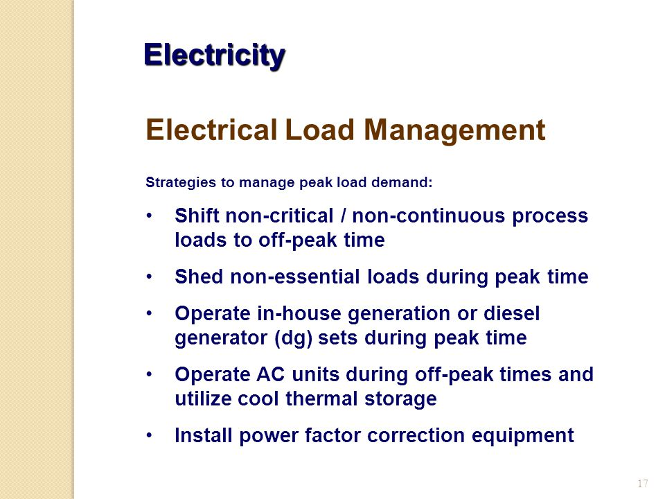 Electrical Load Management