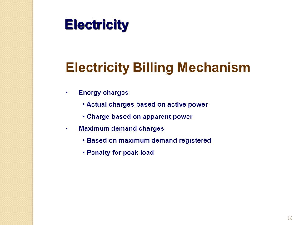 Electricity Billing Mechanism