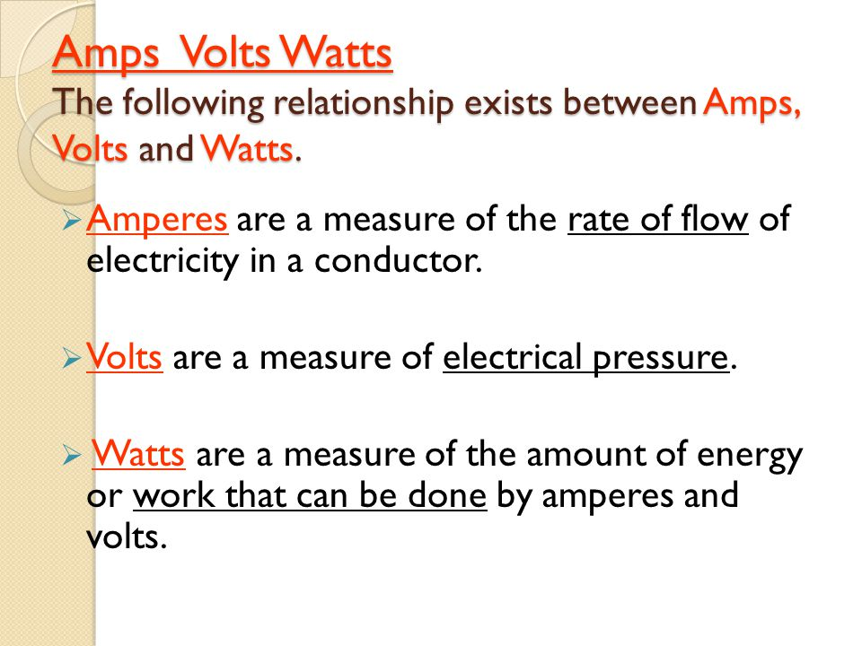 relationship between kwh and watts