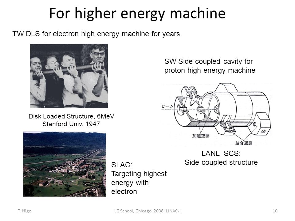 For higher energy machine