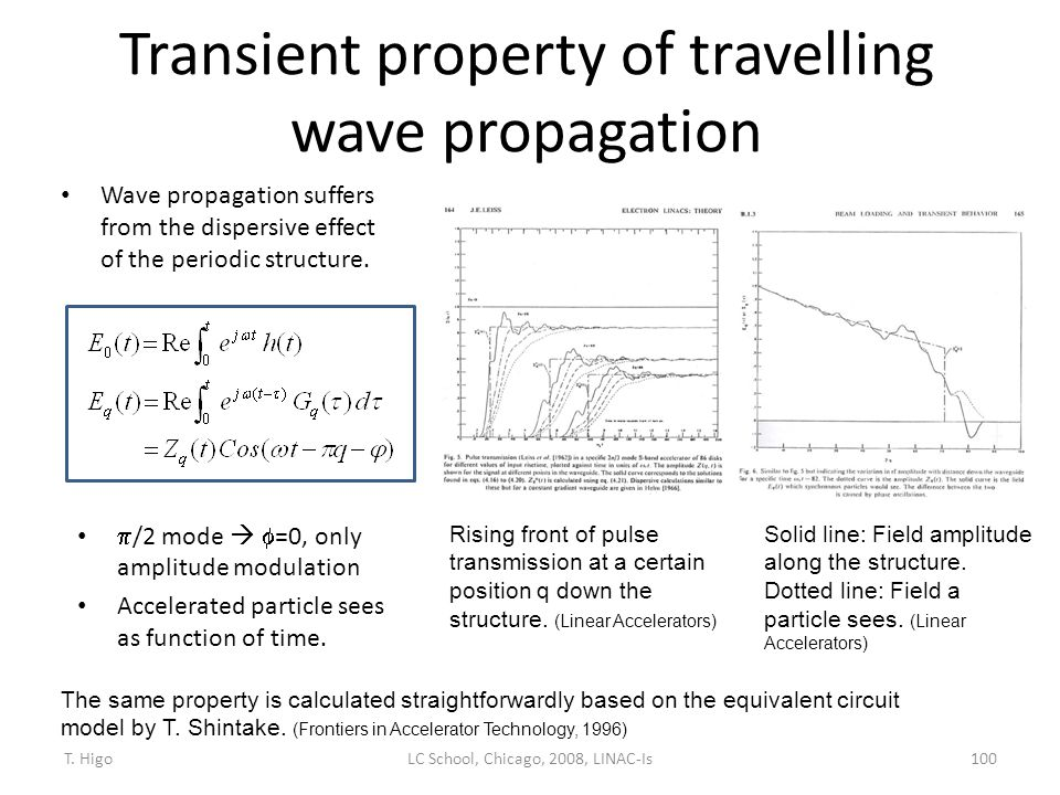 Transient property of travelling wave propagation