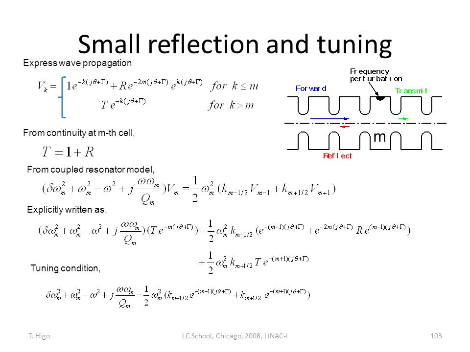 Small reflection and tuning