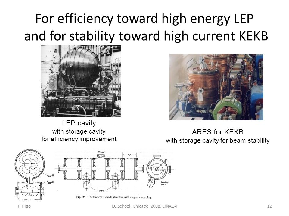 For efficiency toward high energy LEP and for stability toward high current KEKB