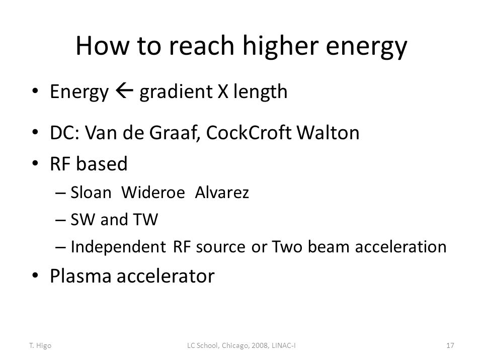 How to reach higher energy